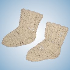 Pretty Knit Socks for Bisque or Composition Doll
