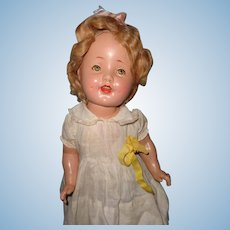 """Shirley Temple Type Composition 19"""" Doll"""