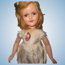 Factory Original Large Sonja Henie Composition Doll by Madame Alexander ~ Tagged