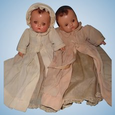 Factory Original 2 Effanbee Patsy Babykin Composition Baby Doll Pair