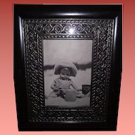Effanbee Composition Doll Building Sandcastles Framed Illustration