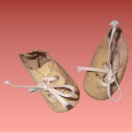 Adorable Oil Cloth Shoes for Composition or Bisque Doll