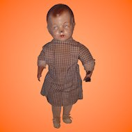Early Boy Composition Doll All Original