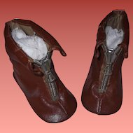 Zipper Boots for Large Bisque or Composition Doll