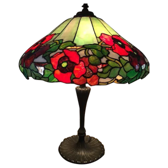 82-Wilkinson leaded poppy Lamp.