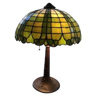 84-Gorham Leaded lamp.