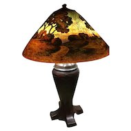 88- Handel painted lamp