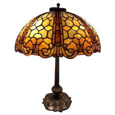 89  Duffner And Kimberly Leaded Lamp In The Colonial Pattern.