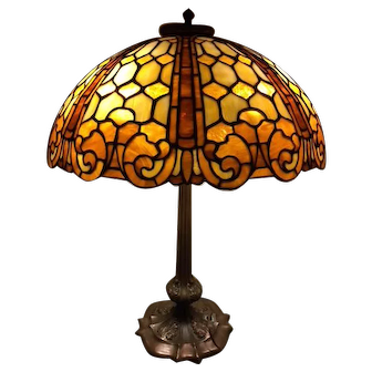 89- Duffner and Kimberly leaded lamp in the Colonial pattern.