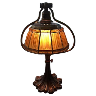 92- Tiffany Linen Fold Lamp