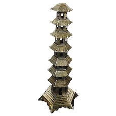 Vintage Brass Pagoda figurine - made in China