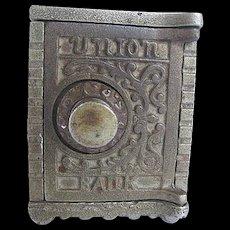 Vintage Kenton Brand Cast Iron Union Combination Still Bank - 1904