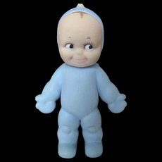 """Vintage 1963 Blue Cameo """"Ragsy"""" Kewpie Doll - signed"""