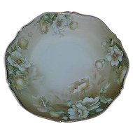 Vintage Hand-painted Porcelain Floral Serving Bowl- Signed - made in Bavaria