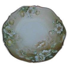 Vintage Hand-painted Porcelain Floral Serving Bowl- Signed - made in Bavaria