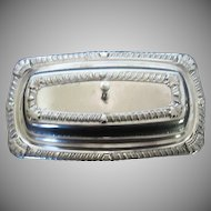 Vintage Laben Silver-plate 3 pc. Butter dish w/Glass Insert - 1940's