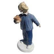 """B & G - Bing & Grondahl 2251 -  Copenhagen porcelain  """"Who's Calling"""" figurine - signed"""