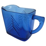 Vintage Cobalt Blue Glass Creamer from the 1940's era