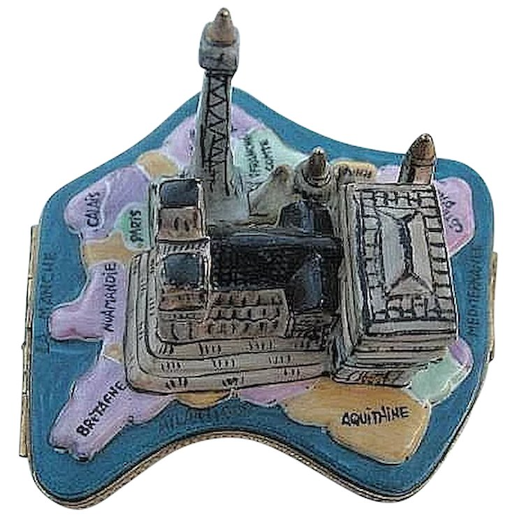 Map of paris with landmarks