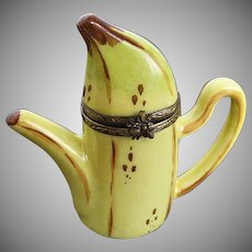 Vintage Limoges Banana Teapot Trinket Box - LaGloriette - made in France
