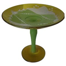 Gorgeous Art Glass Compote