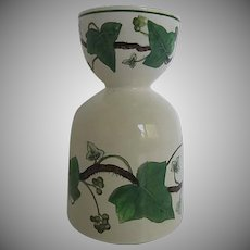 Rare Wedgwood of Etruria & Barlaston Napoleon Ivy Green (Queens Ware Double Egg Cup - Made in England