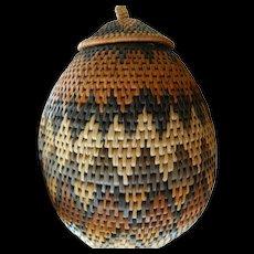 African Zulu Ceremonial basket