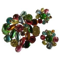 Hattie Carnegie pin with earrings