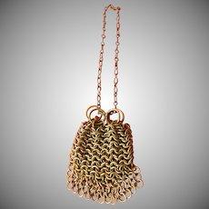mesh metal doll's purse-Vintage