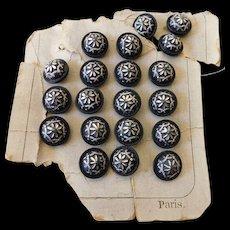 Elegant buttons-Vintage-Paris France