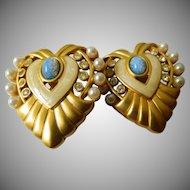 signed-Elizabeth Taylor earrings