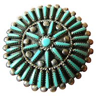 signed-Zuni pin/pendant
