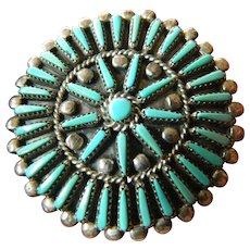 signed-Zuni pin/pendant