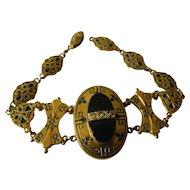 Victorian mourning bracelet