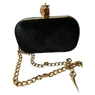 Alexander McQueen designer Pony hair clutch purse/ hand bag
