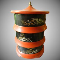 Japanese three tier food tray