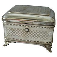 Schiffers & Co. Quad silver plate Keepsake box