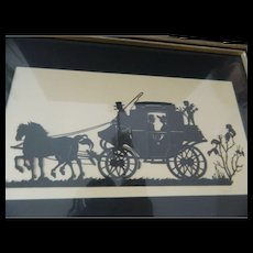 Vintage signed silouette picture