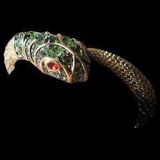 KJL-Kenneth J. Lane Green stones snake bracelet