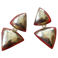 Hand made- heavy sterling silver earrings