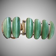 signed-David Andersen sterling-enamel bracelet