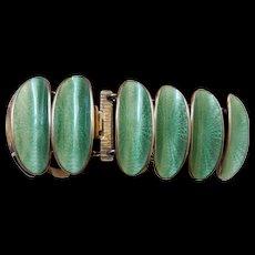 signed-David Andersen sterling-enamel bracelet