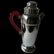 Chrome drink shaker bakelite handles