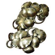Sterling-lily pad-Vintage earrings