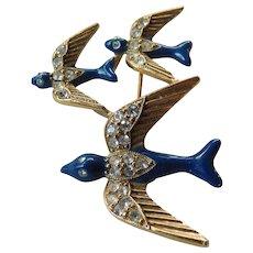 Three Swallows pin