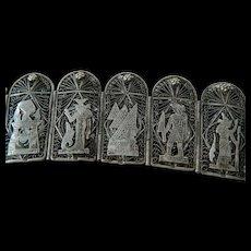 """Magnifiscent silver filigree """"Story teller"""" bracelet-Egypt"""