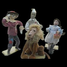 Ashton Drake Wizard of Oz Porcelain Doll Series - Set of 4 - 1994 - Original boxes and papers of authenticity