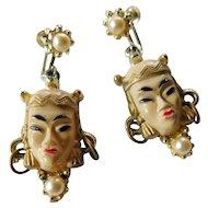 Asian princess-dangle earrings