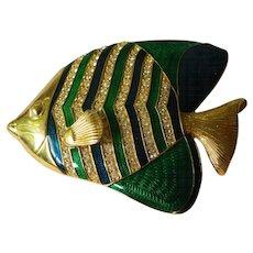 Wonderful big fish pin-KJL-Kenneth J. Lane