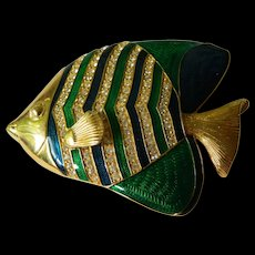 Wonderful big fish pin-KJL-Kenneth J. Lane